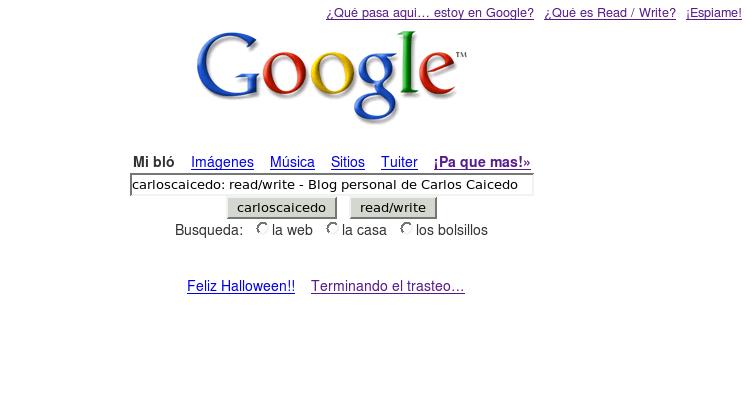 Blog disfrazado de google